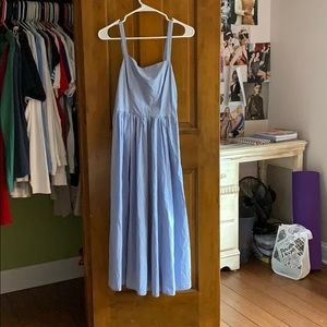 a long button up side dress